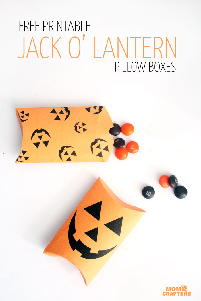 Free printable pillow boxes. Part of Free Halloween Printables Round-up: Over 100 Free Printables.