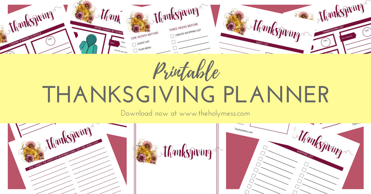 Free Printable Thanksgiving Planner. Part of Free Thanksgiving Printables Round-Up. Over 50 free Thanksgiving printables including decor, planners, labels, food decoration, and more! #thanksgiving #free #printable #freeprintable #thanksgivingprintable