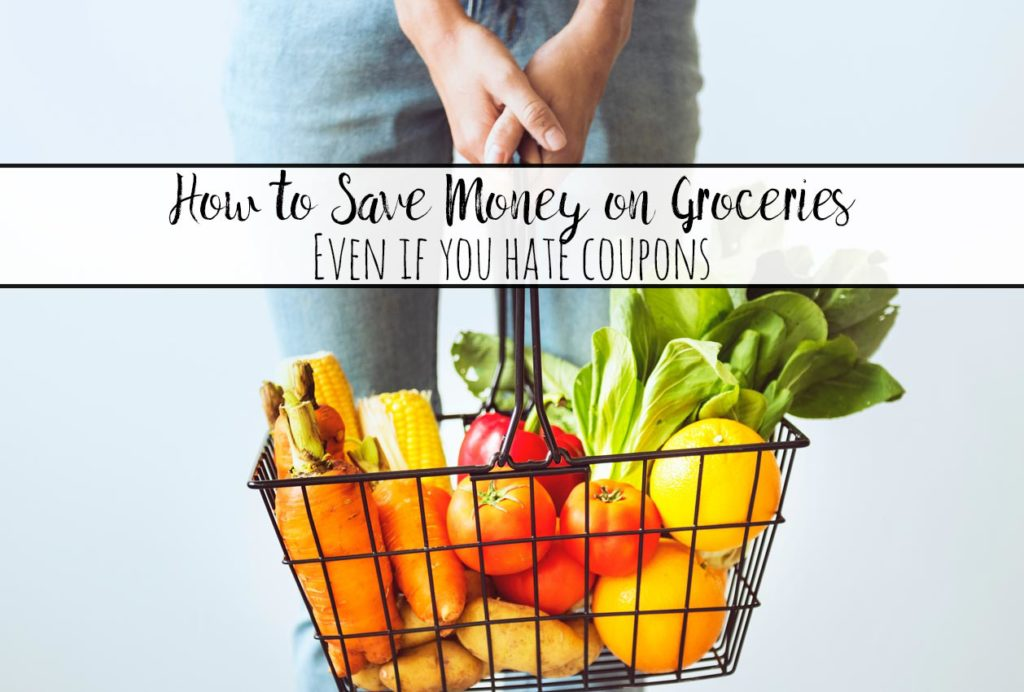 How to Save Money on Groceries Even if You Hate Coupons. Tips, tricks, and FREE GROCERY PRINTABLES to help you save money on groceries.
