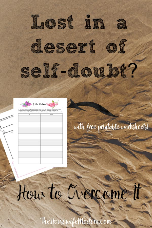 8 Powerful Ways to Overcome Self-Doubt. How to overcome self-doubt with action steps and free printable worksheets. Are you letting self-doubt hold you back? #selfdoubt #doubt #confidence #free #printable #freeprintable