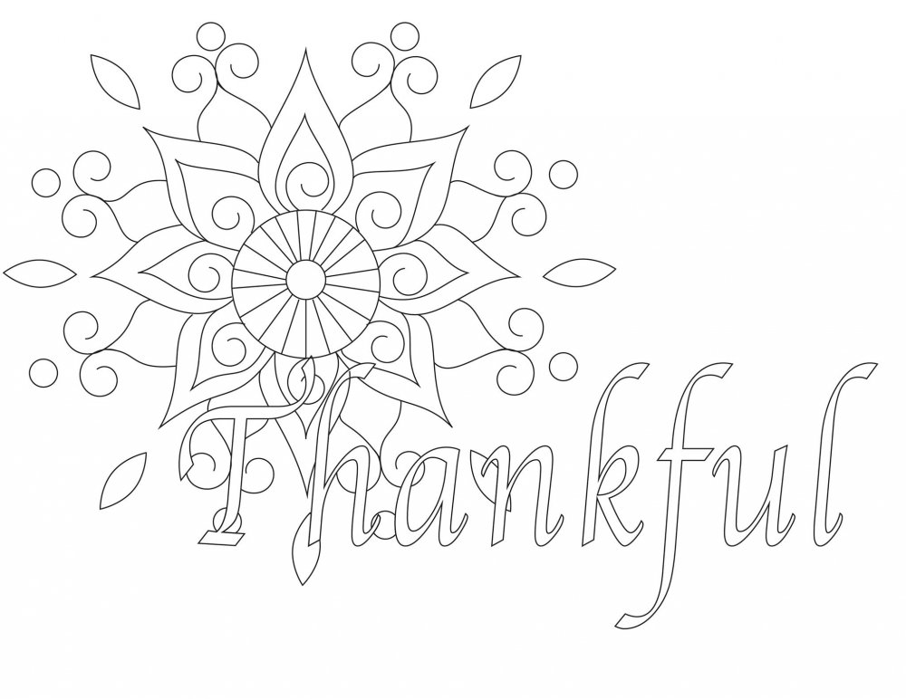 Thankful coloring worksheet. Part of Free Thanksgiving Printables Round-Up. Over 50 free Thanksgiving printables including decor, planners, labels, food decoration, and more! #thanksgiving #free #printable #freeprintable #thanksgivingprintable
