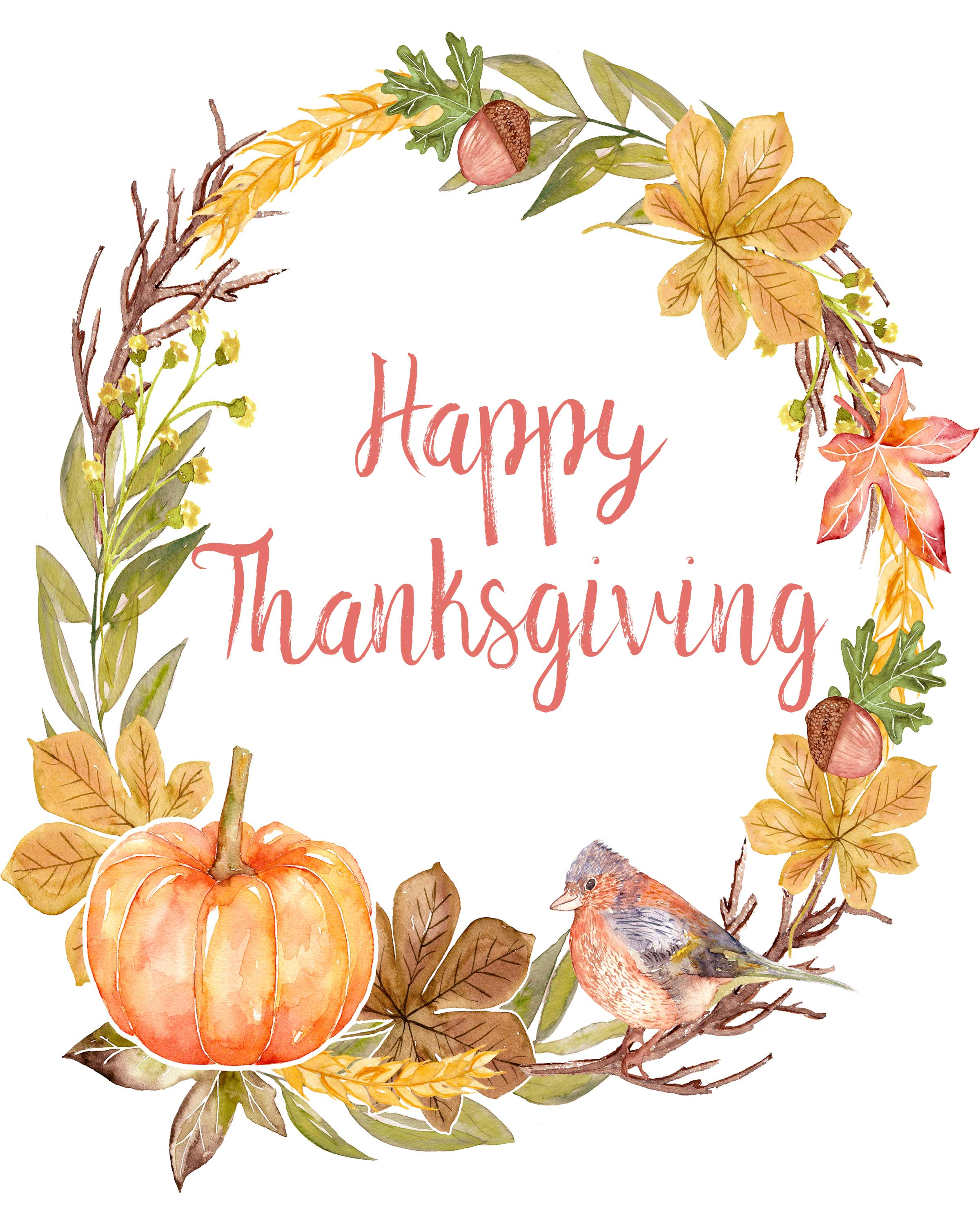 4 Gorgeous Free Printable Thanksgiving Wall Art Designs