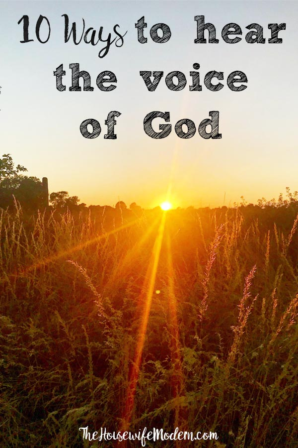 10 Ways: How to Hear the Voice of God. Practical directions you can apply to your everyday life to help you hear the voice of God. #god #christian #faith