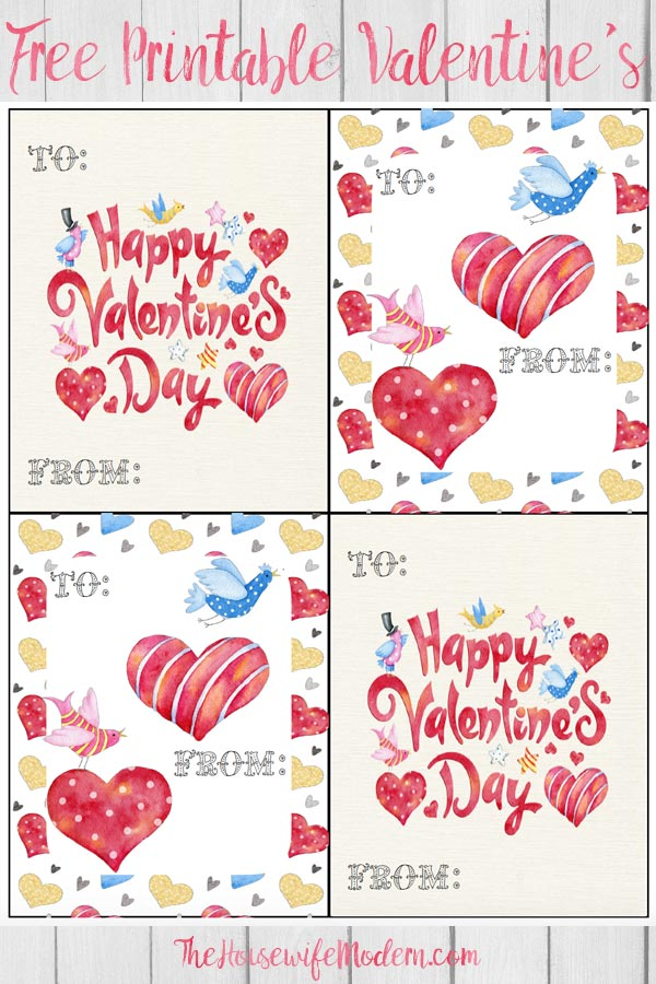 Free printable Valentine's Day cards for kids. 6 cute designs available so your kid can pick the perfect card for each person. Perfect for handing out in class. #valentine #valentines #valentinesday #card #free #printable #freeprintable #freeprintablevalentines