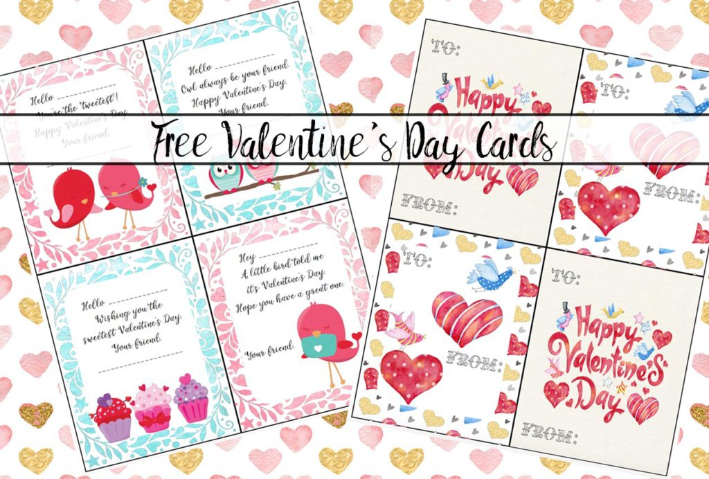 Free printable Valentine's Day cards for kids. 6 cute designs available so your kid can pick the perfect card for each person. Perfect for handing out in class.