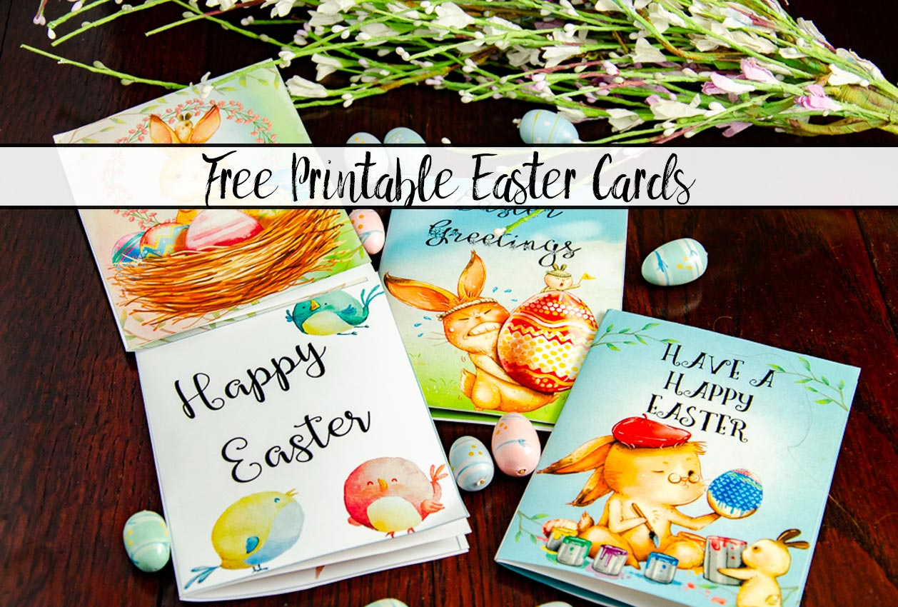 Free Printable Easter Cards: 4 Adorable Designs
