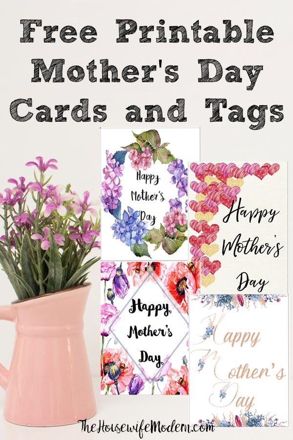 Free Printable Mother's Day Cards and Gift Tags. 4 different designs. Give a beautiful card to mom. Comes with matching gift tag. #mother #mothersday #cards #free #printable #freeprintable