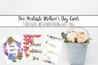 image relating to Free Printable Mothers Day Tags known as Cost-free Printable Moms Working day Playing cards and Reward Tags