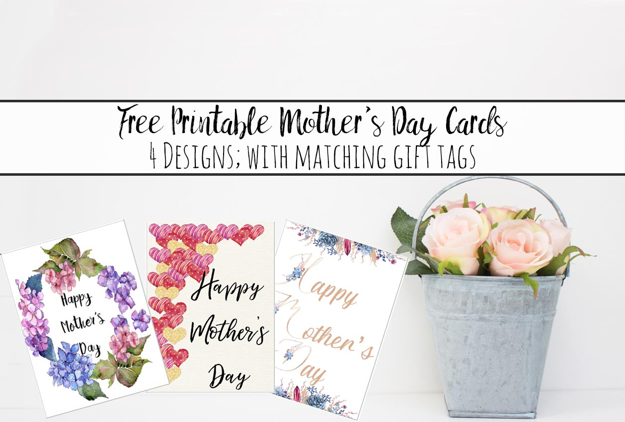 Free Printable Mother's Day Cards and Gift Tags