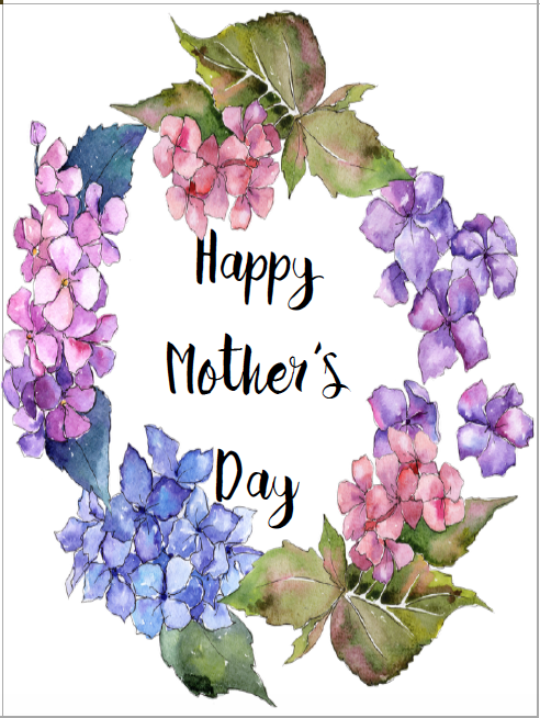 Card #2. Free Printable Mother's Day Cards and Gift Tags. 4 different designs. Give a beautiful card to mom. Comes with matching gift tag.
