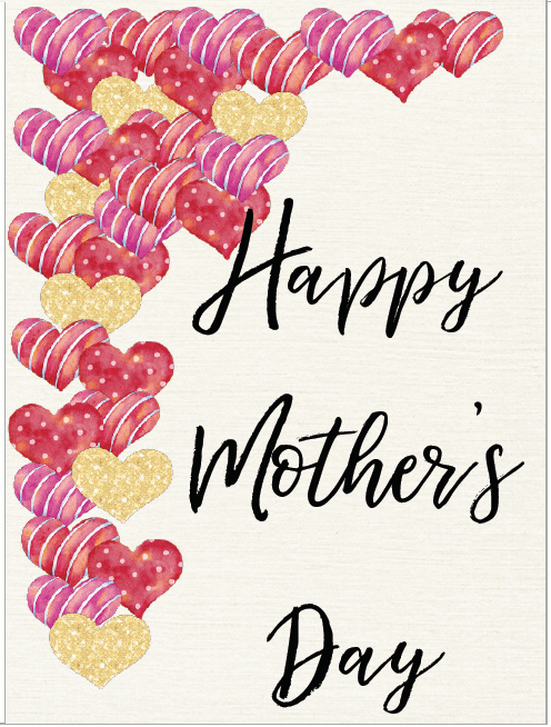 Card #3. Free Printable Mother's Day Cards and Gift Tags. 4 different designs. Give a beautiful card to mom. Comes with matching gift tag.