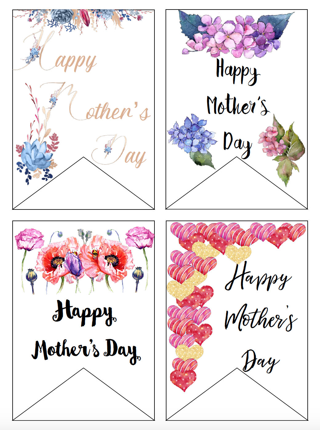 photo about Free Printable Mothers Day Tags identified as Cost-free Printable Moms Working day Playing cards and Present Tags