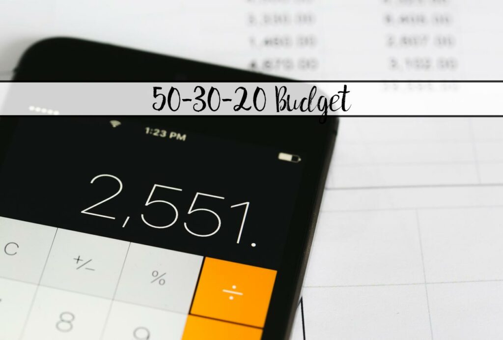 Take control of your money and start saving without a detailed budget. All about the 50-30-20 Budget and Free Printable Worksheet to help you.