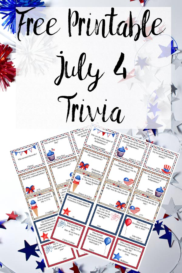 picture regarding 4th of July Trivia Printable named Free of charge Printable 4th of July Trivia