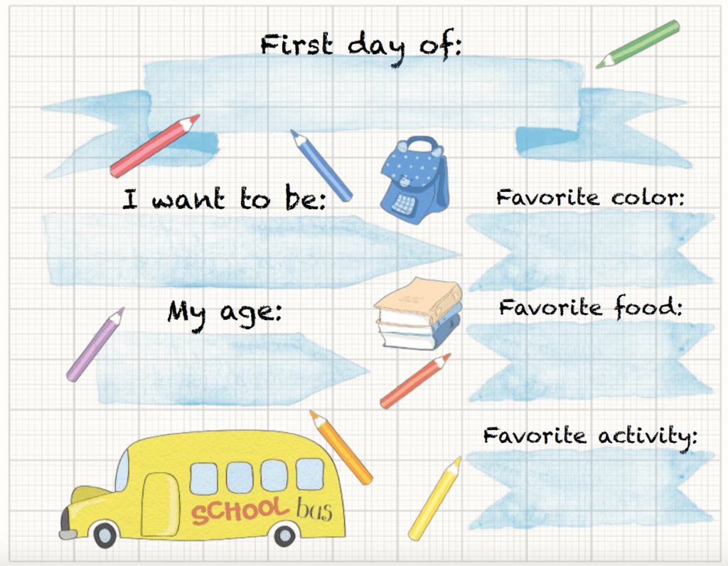 picture relating to Free Printable Templates for 1st Day of School Signs for Boys called Totally free Printable Back again toward Higher education Indications 1st Working day: 4 Programs