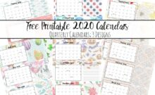 Featured image for 2020 printable quarterly calendars.