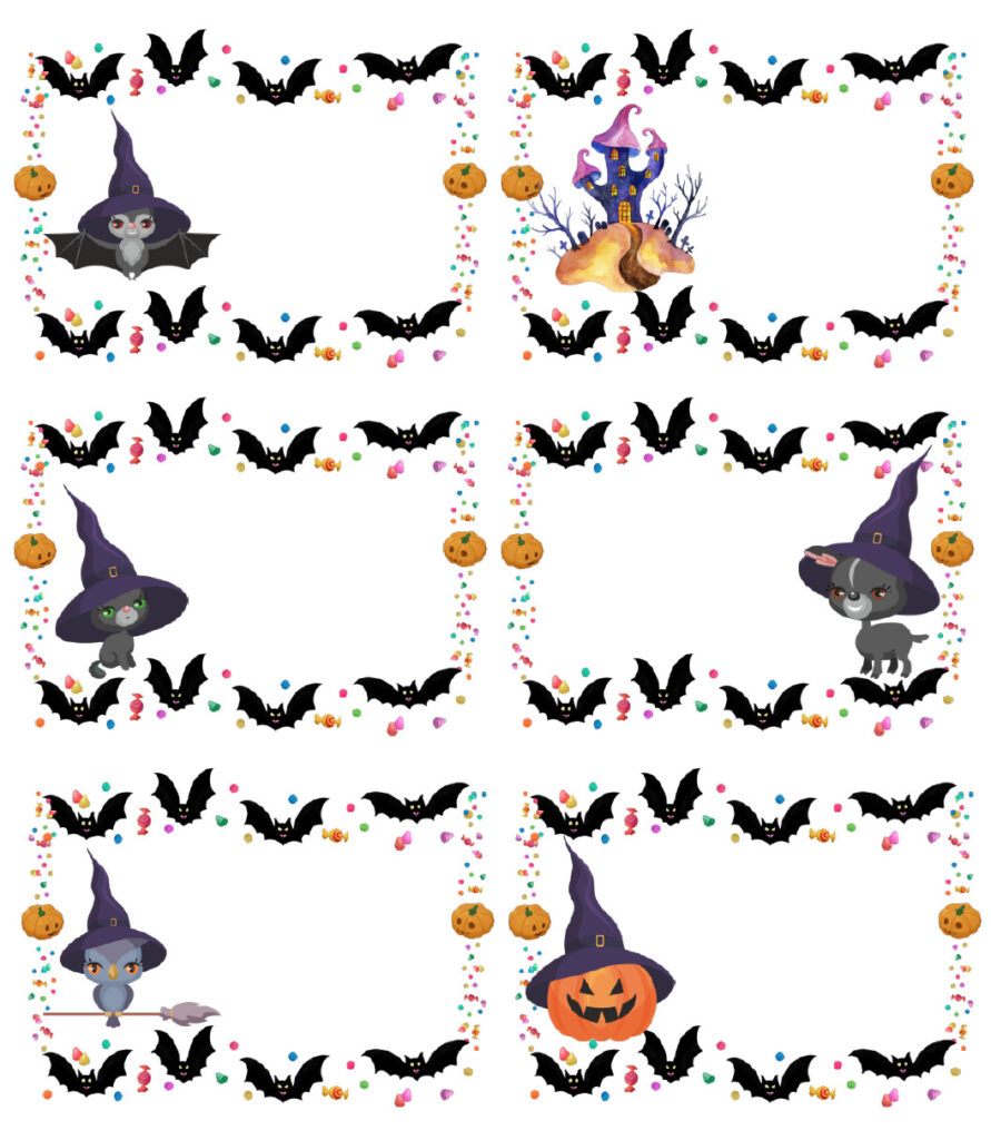 Blank page for clues for free printable Halloween treasure hunt.