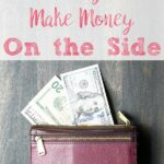 Pin image for 40+ ways to make money. Wallet with money and with text overlay.