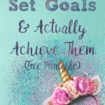 Pin image for goals vs. systems. Bright unicorn headband, glitter, and text.
