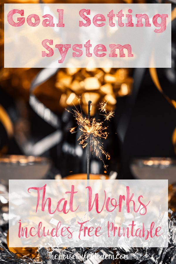 Pin image for goals vs. systems. Sparkler and spangle banners with text overlay.