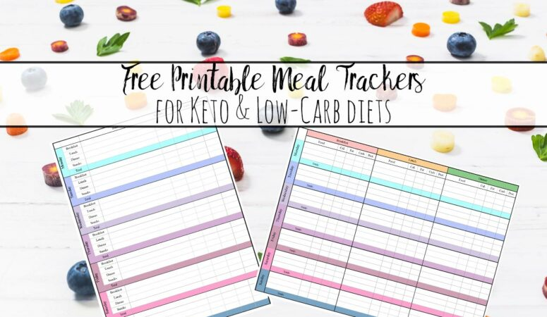 Free Keto and Low-Carb Meal Tracker Printables