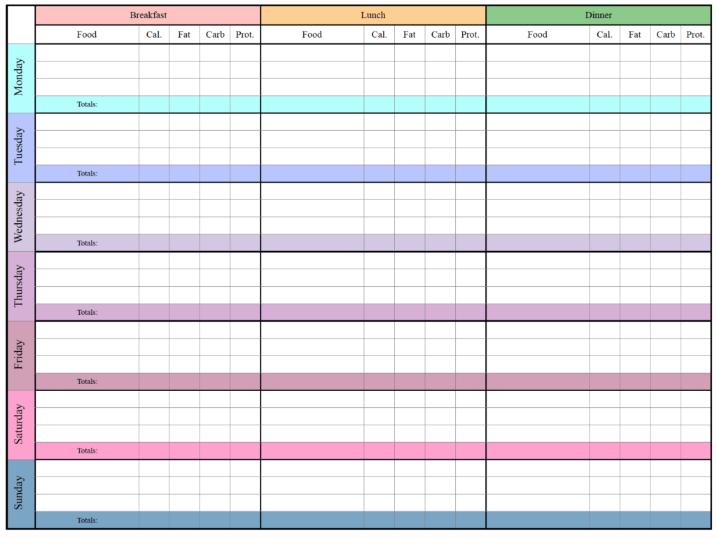 Low-carb meal tracker horizontal.