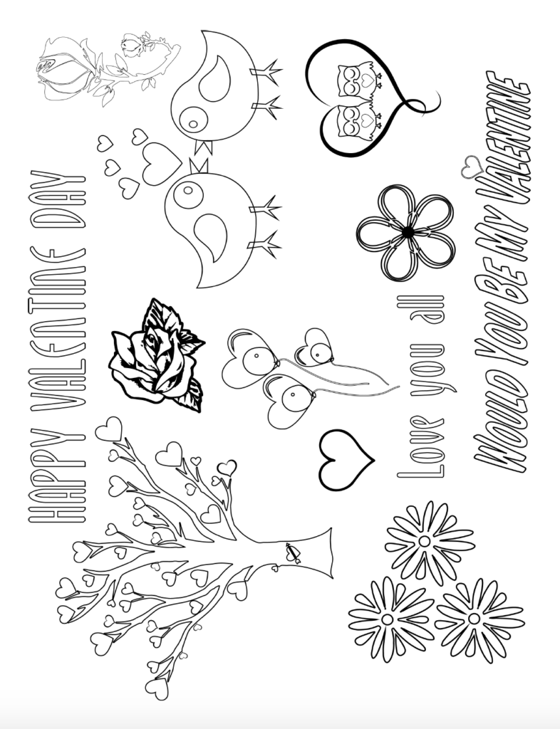 Have Fun With Free Printable Valentine S Day Coloring Pages