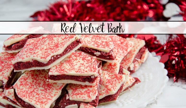White Chocolate Red Velvet Bark: Easy & Delicious