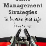 Pin image for 8 time management strategies. Typewriting typing