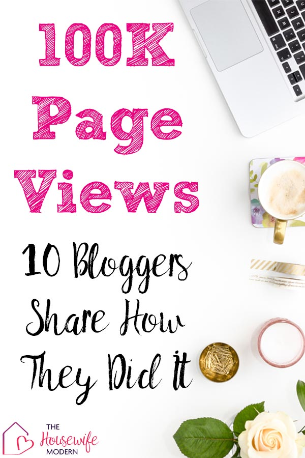 Pin image for how to get blog traffic. White desktop with text overlay.
