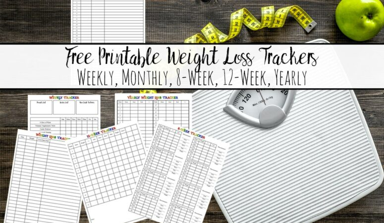Weight Loss Tracker Printables {Free}: Multiple Options To Fill Your Needs