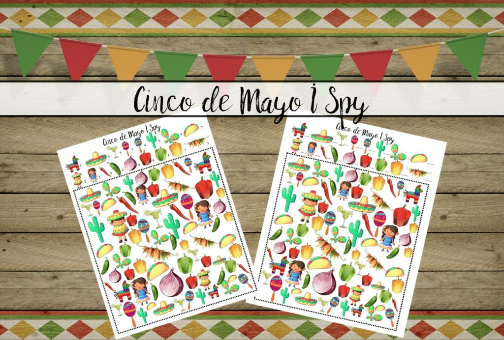 Cinco de Mayo I Spy {Free Printable}