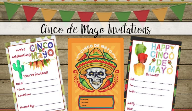 Free Printable Cinco de Mayo Invitations: 3 Designs