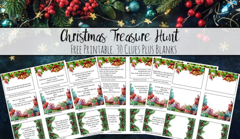 Free Printable Christmas Treasure Hunt