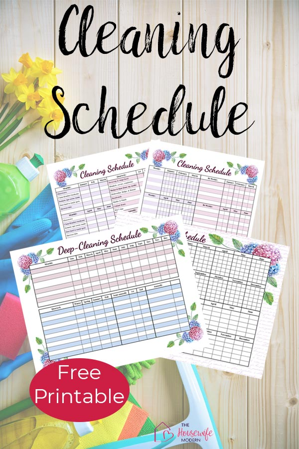 Pin image for: Free printable cleaning schedules.