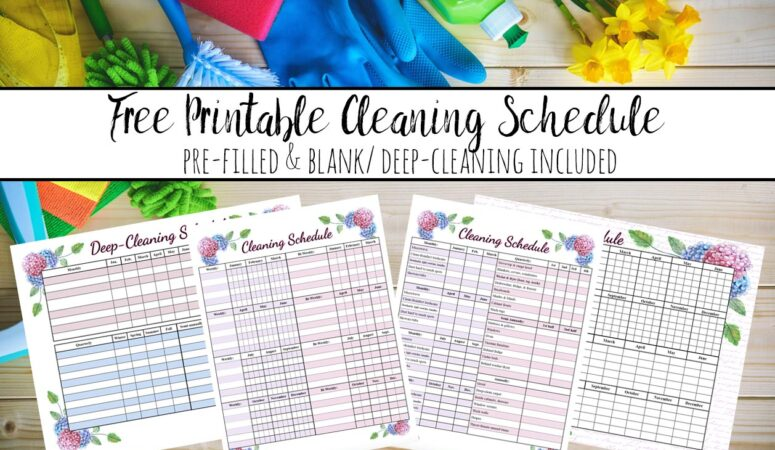 Free Printable Cleaning Schedule: Weekly and Deep-Cleaning