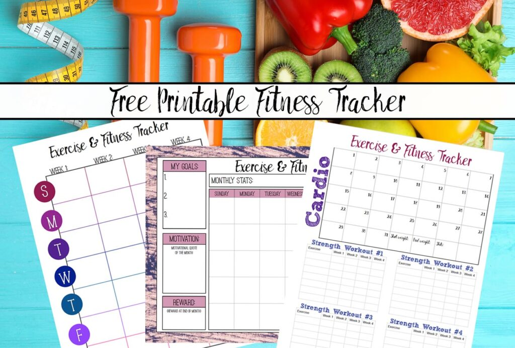 Free Printable Fitness Trackers: 3 Different Monthly Designs