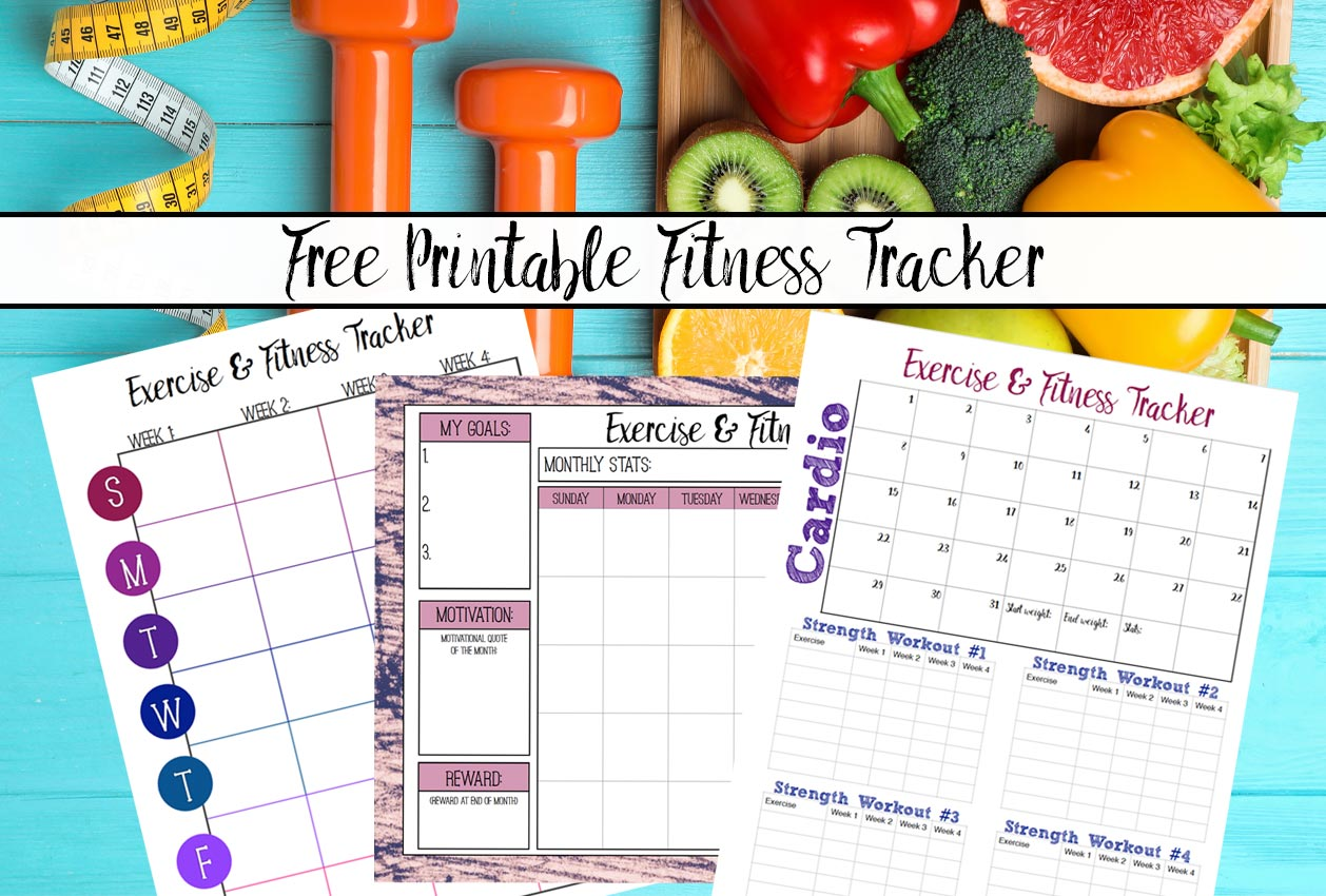 Free Printable Fitness Trackers 3 Different Monthly Designs