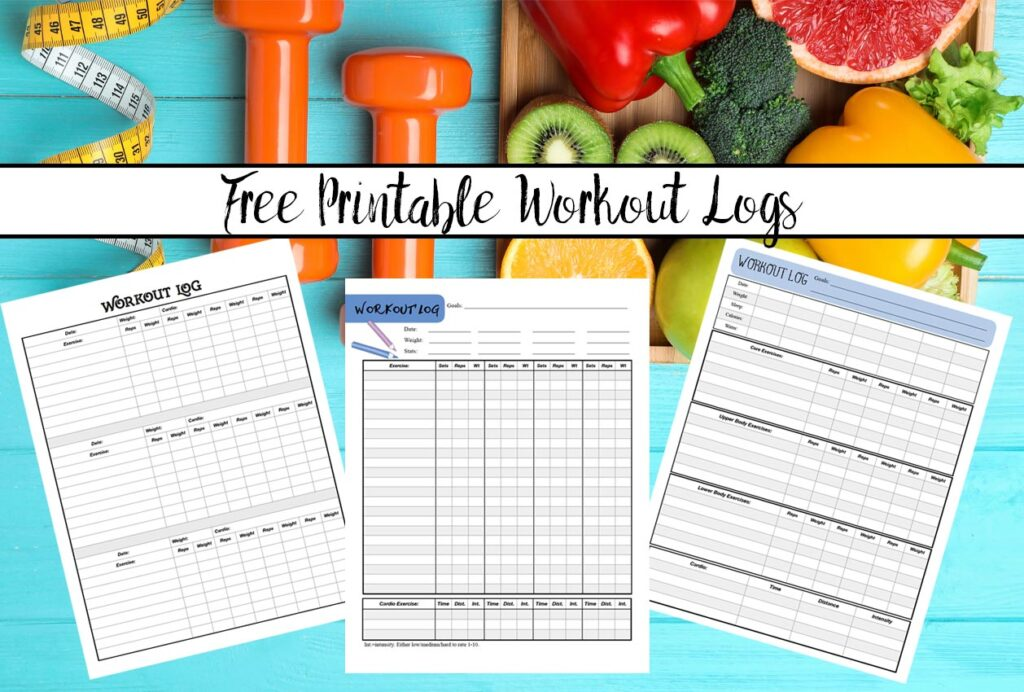 Free Printable Workout Logs: 3 Designs