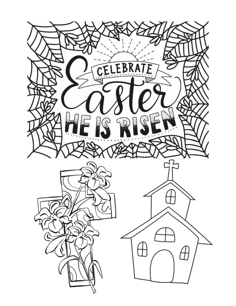 Free printable Easter Coloring Page: Design 1 of 6