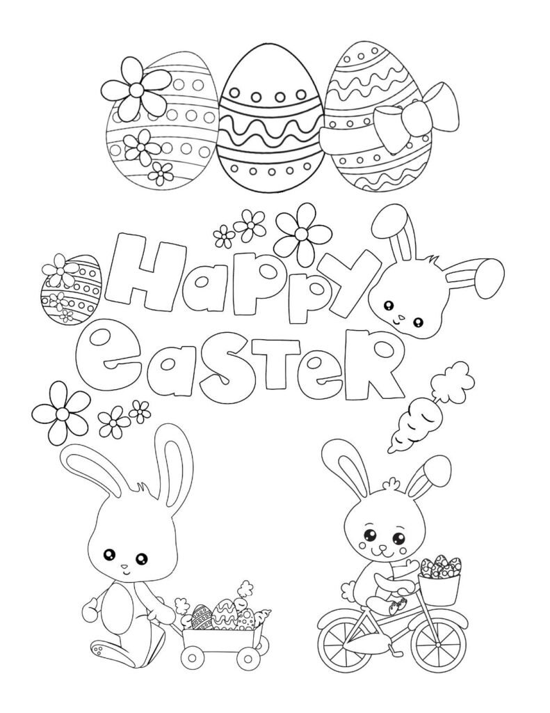 Free printable Easter Coloring Page: Design 2 of 6