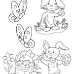 Free printable Easter Coloring Page: Design 3 of 6