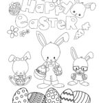 Free printable Easter Coloring Page: Design 5 of 6