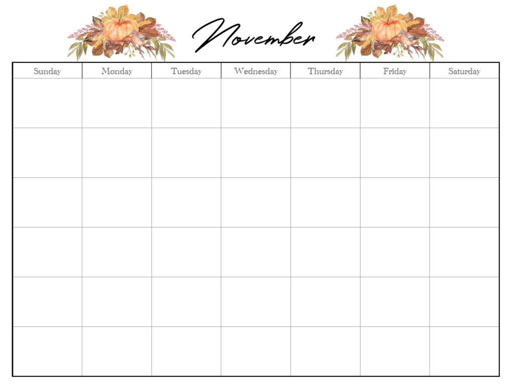 November horiztonal holiday