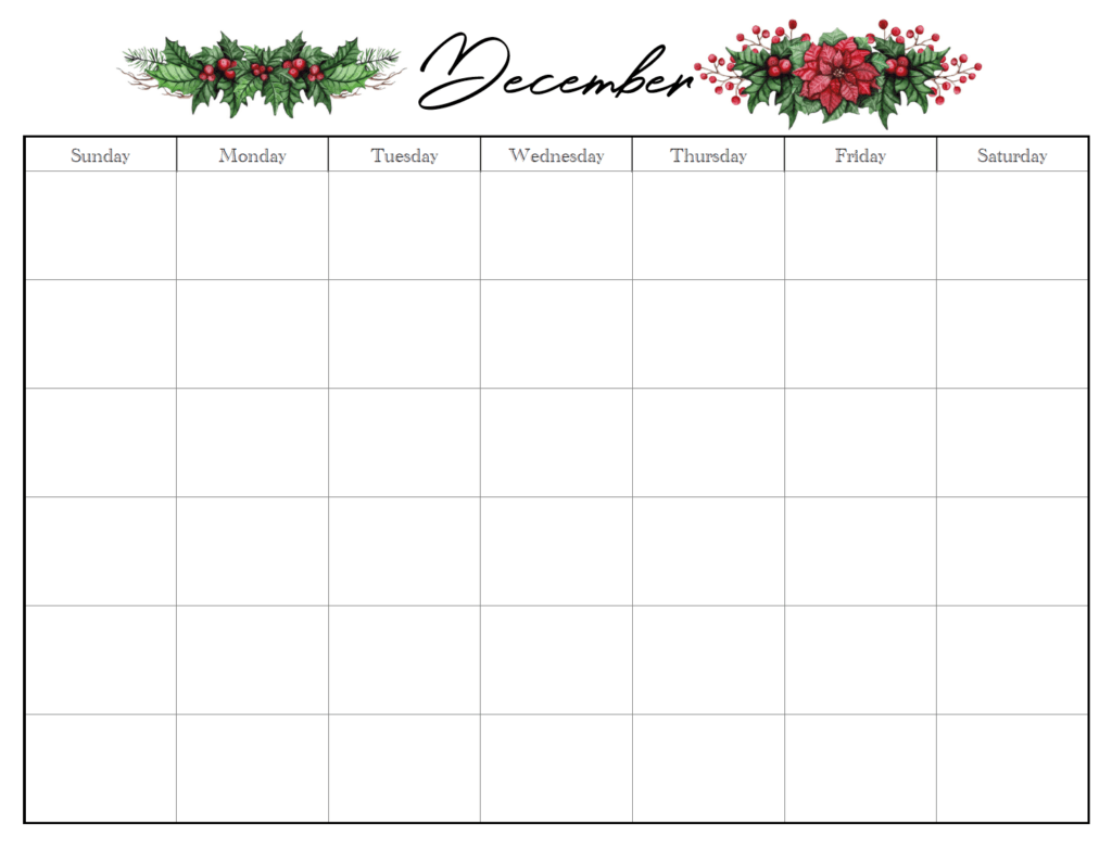 December horizontal holiday