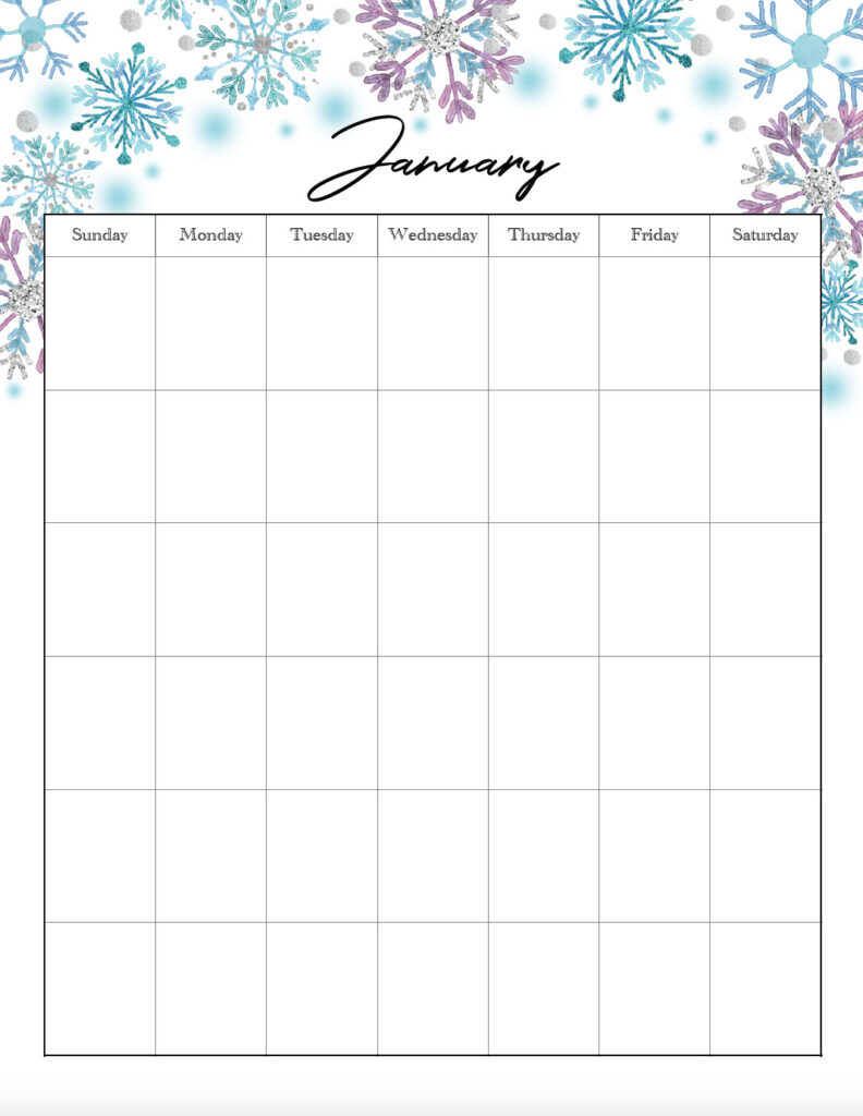 January vertical holiday