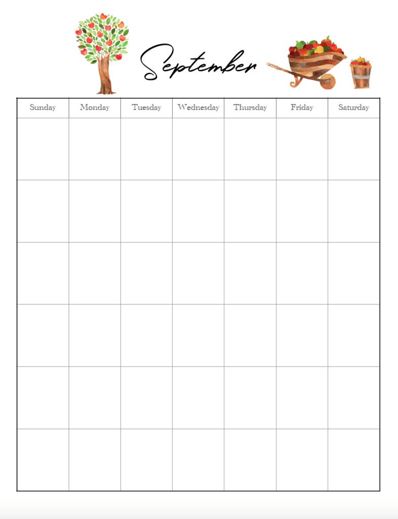 September vertical holiday
