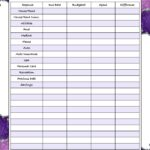 Free printable monthly budget with dark purple background
