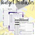 Yellow bright image for free budgeting printables.