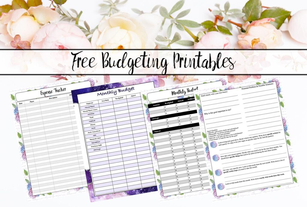 Free Budgeting Printables: Expenses, Goals, & Monthly Budget